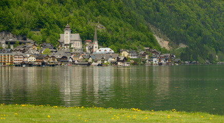 View of Hallstatt, Austria.Hallstatt  is on World Heritage List.
