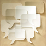 Speech Bubbles Vintage Dialog Transparent