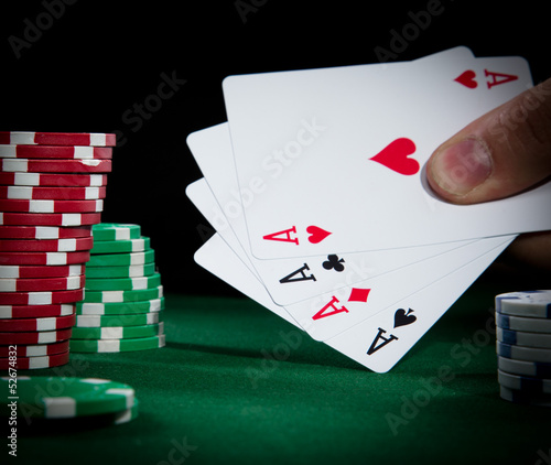 Poker cards close-up