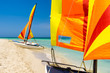 Colorful sailing boats in Cuba