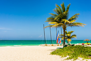 The tropical beach of Varadero in Cuba