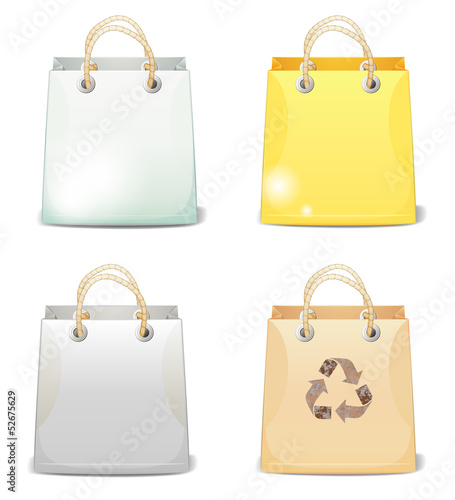 Four shopping bags