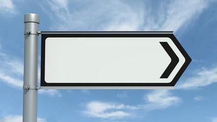 Empty Road Sign