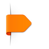 Sticker Schild orange
