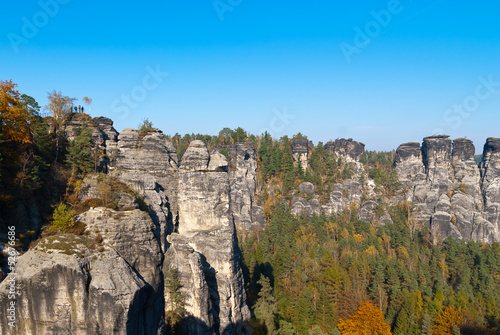 Autumn colors at Bastei