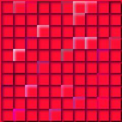 rotes Mosaik
