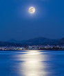 Moonlight on the city