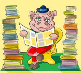 Bibliophile - pig
