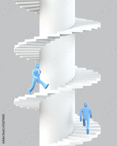 Walk up to success concept