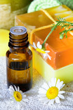 Essential chamomile oil with natural soap