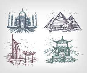 The countries of the world. Author's illustration in vector