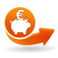 épargne sur bouton web orange