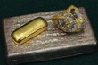 Silver & Gold Bars (Ingots) and Gold / Quartz Specimen