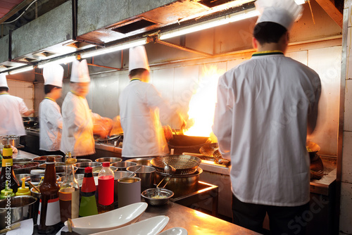 canvas print picture Chinese chef