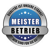 5 Star Button blau MEISTERBETRIEB QIUS WSFSD