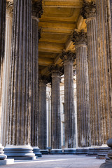 Close-up of columns