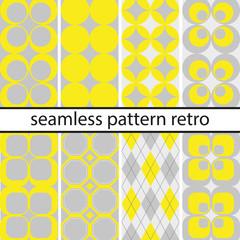Set Retro Muster moderne Farben