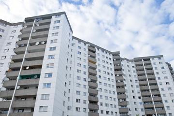 Wohnsiedlung in Deutschland - Plattenbau
