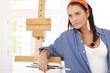 Visual artist at canvas