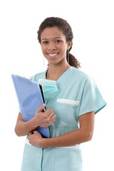 Portrait of young nurse smiling
