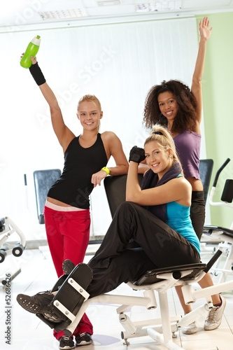 Pretty girls at the gym