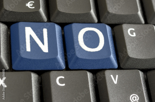 NO on computer keyboard