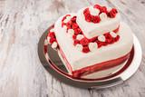 Fototapety Hochzeitstorte in Herzform - Wedding Cake Heart