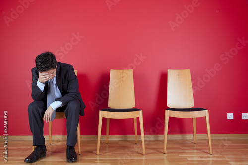 Businessman depression