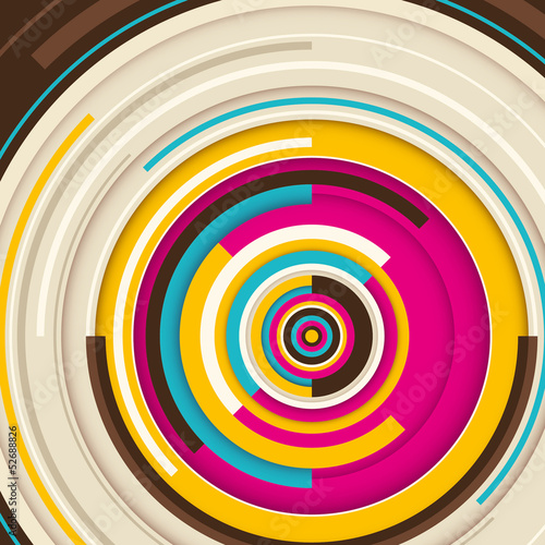 Abstract graphic with circles.