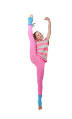 exercise kid girl or child