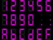 chiffres digitaux violet