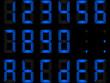 chiffres digitaux bleu clair