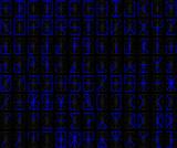 alphanumérique bleu