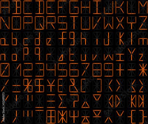 alphanumérique orange