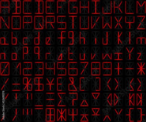 alphanumérique rouge