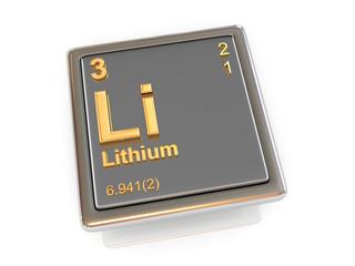 Lithium. Chemical element.
