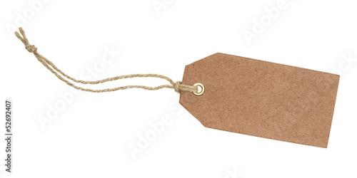 Leinwanddruck Bild Brauner Anhänger mit Kordel