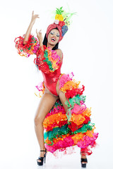 Samba Dancer wearing Carmen Miranda Costume