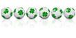 6 boules porte-bonheur alignées