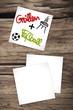 zettl-brettl papierblaetter grillen+fussball II