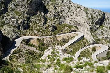 Serpentinen der Sa Calobra Passstraße
