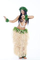 Woman dancing Hula