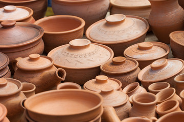 earthen clay vases