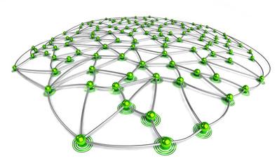 Green eco connection concept