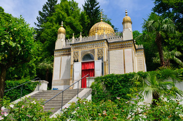 The Moorish kiosk at the Linderhof Palace in Germany