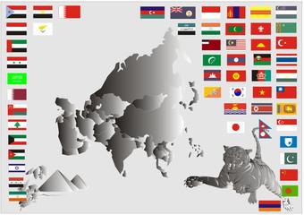 Kontinent - Mittlerer Osten-Asien
