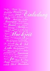 Einladung Hochzeit pink