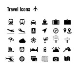 Fototapety Travel Icons