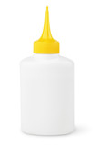 Oil or glue bottle isolated on white with clipping path
