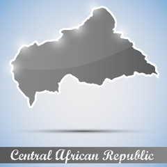 shiny icon in form of Central African Republic